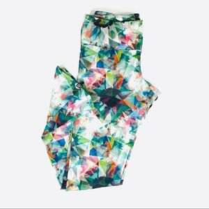 Onzie Leggings Geometric Multicolor Pattern S/M